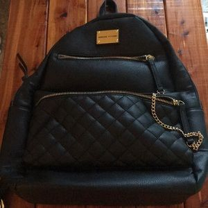 Adrienne Vittadini quilted backpack with pockets